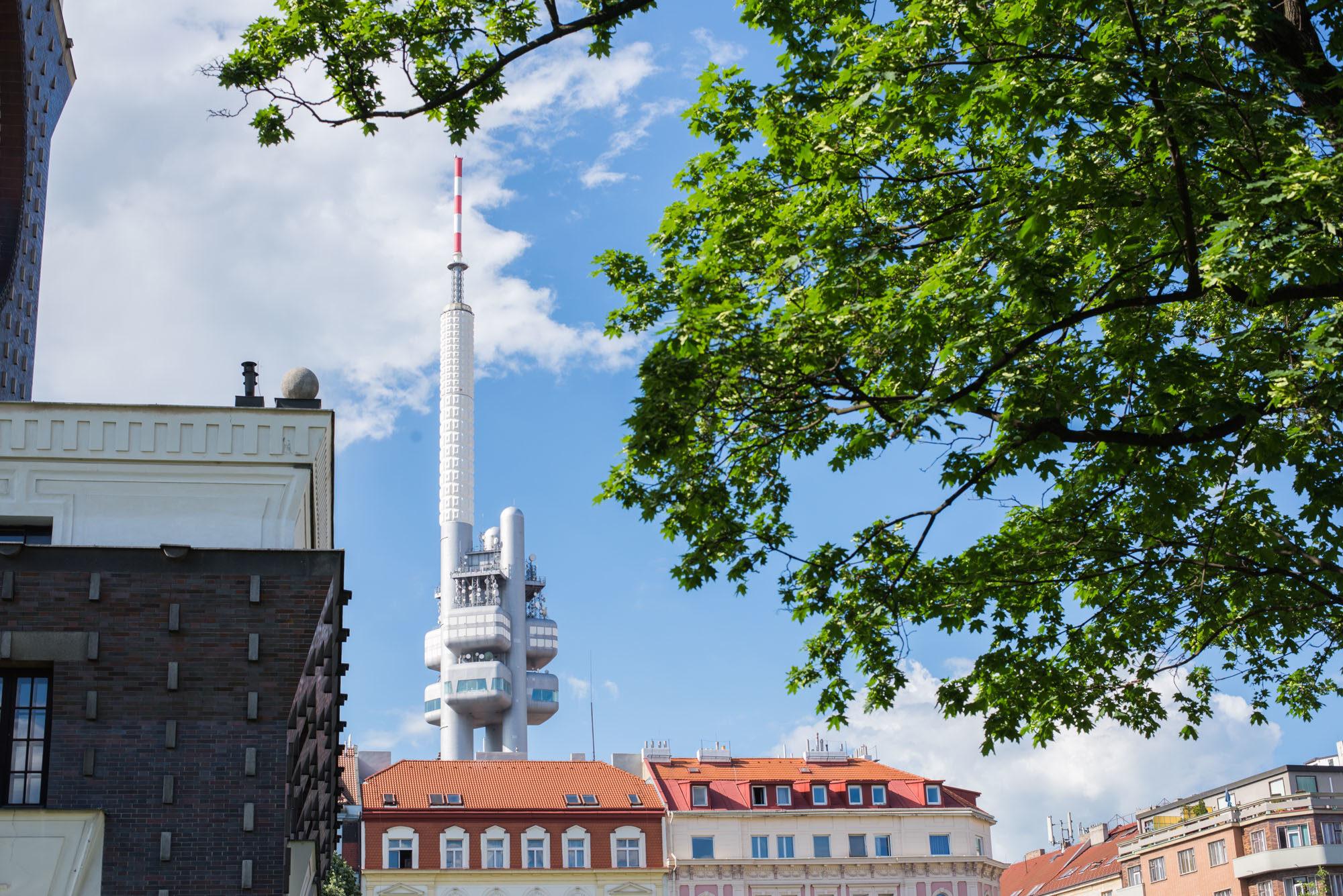 zizkov tower prague tower park