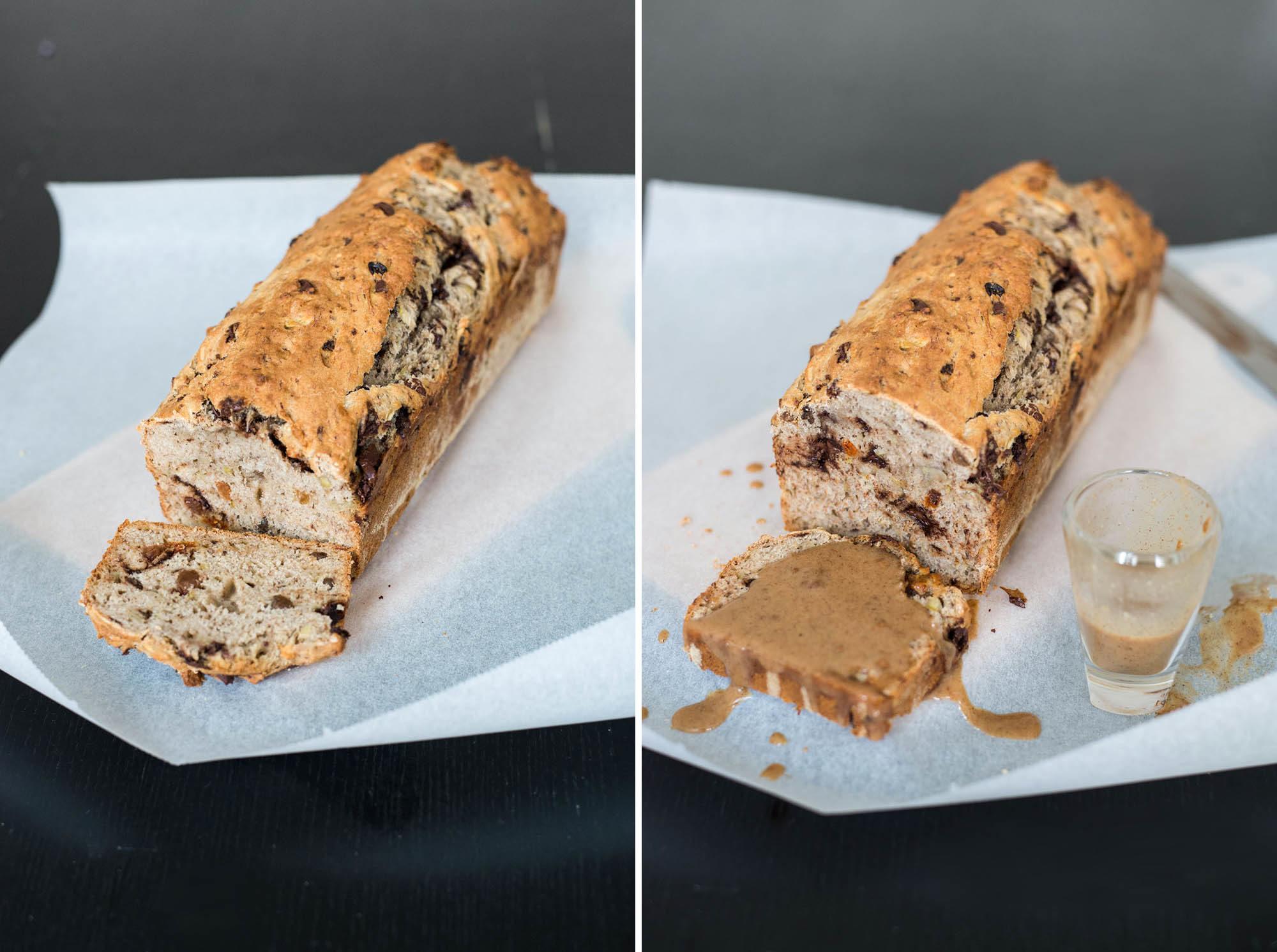 Vegan banana bread with a gluten-free option. Tastes like Christmas ❤️