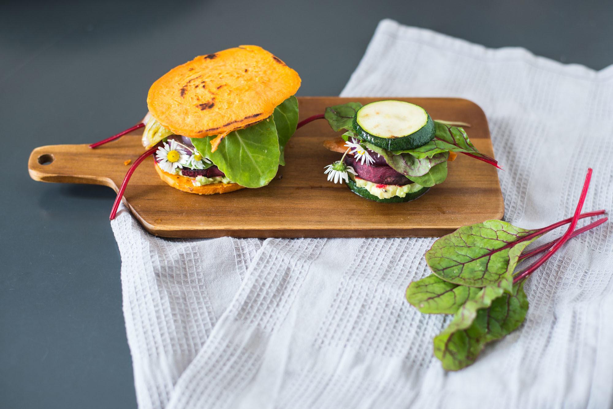 vegan gluten free low-carb burgers sweet potato zucchini-12
