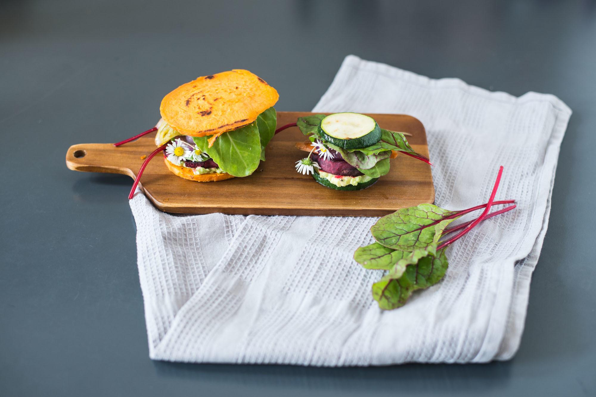 vegan gluten free low-carb burgers sweet potato zucchini-13