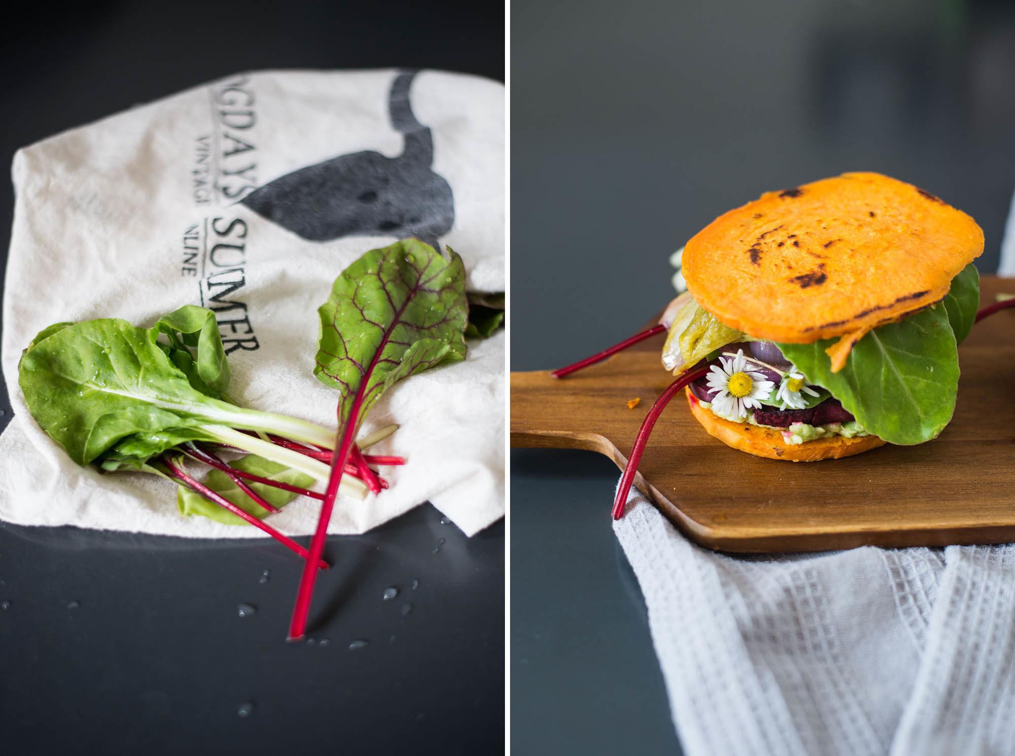 vegan gluten free low-carb burgers sweet potato zucchini