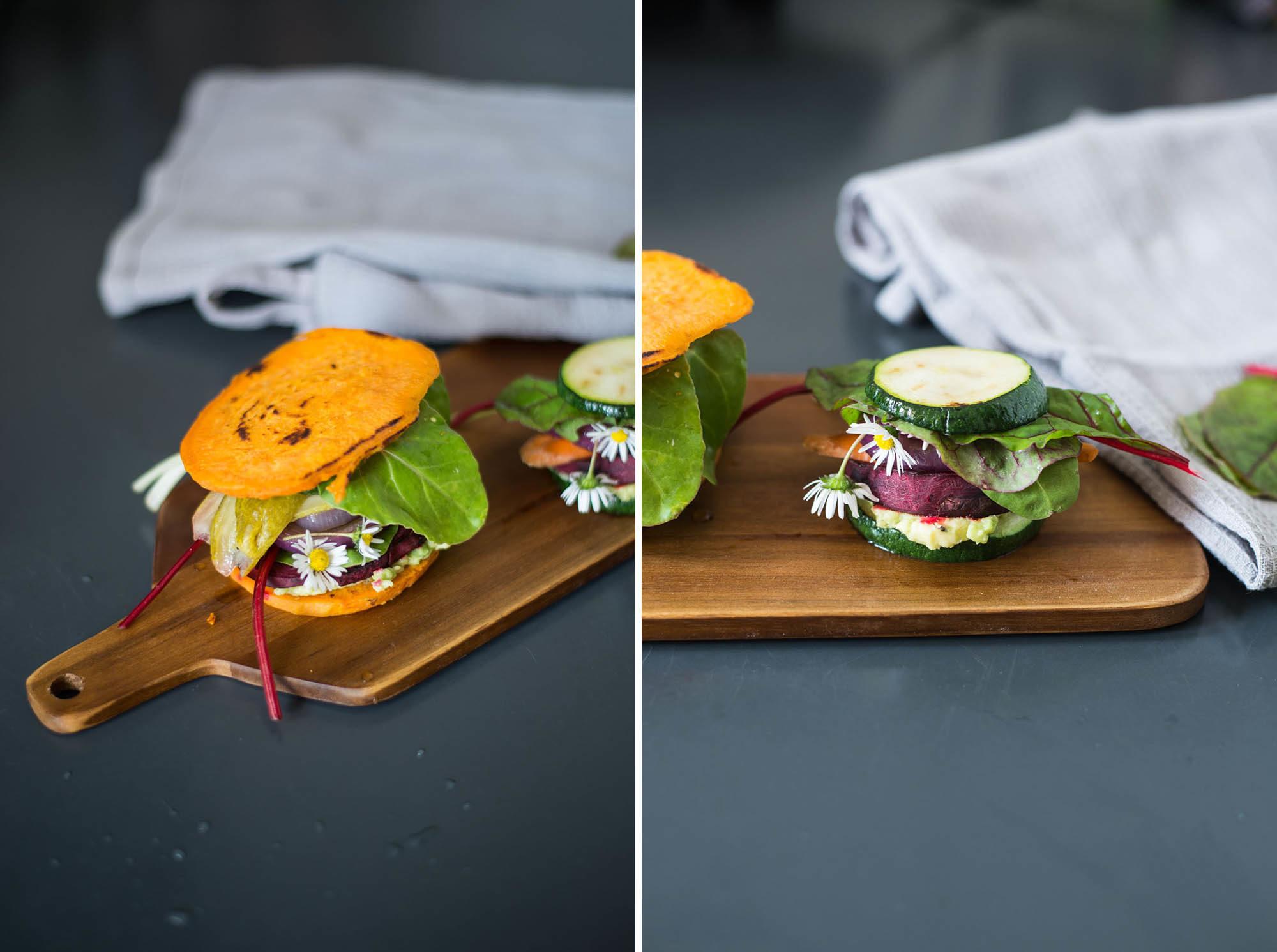 vegan gluten free low-carb burgers sweet potato zucchini-18