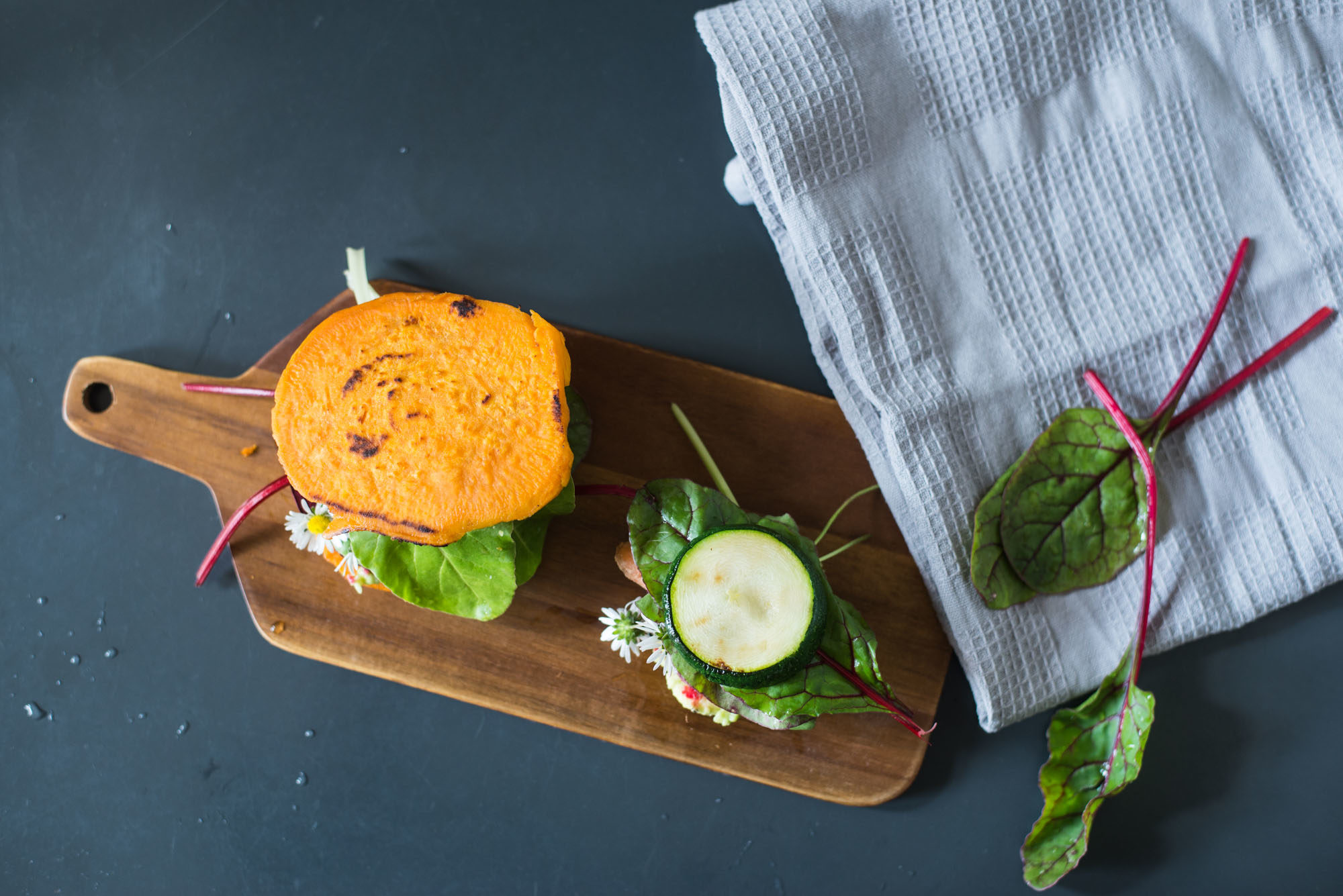 vegan gluten free low carb burgers sweet potato zucchini-7