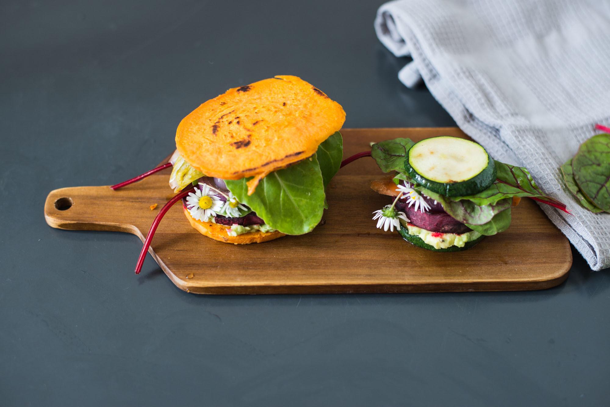 vegan gluten free low-carb burgers sweet potato zucchini-8