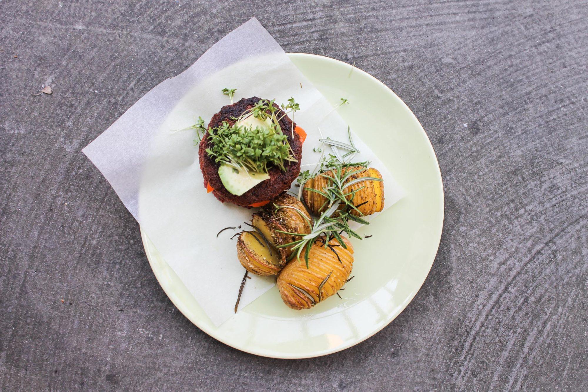 gluten free vegan burger patties tofu beetroot -3