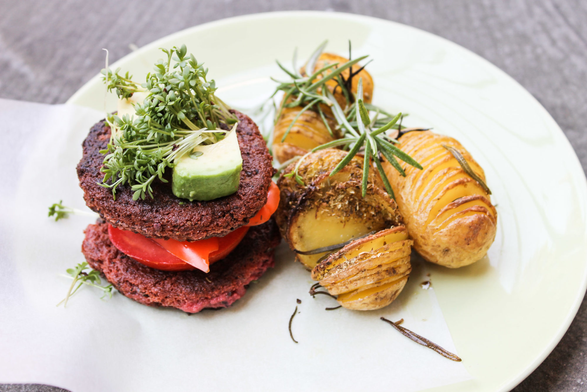 gluten free vegan burger patties tofu beetroot -4