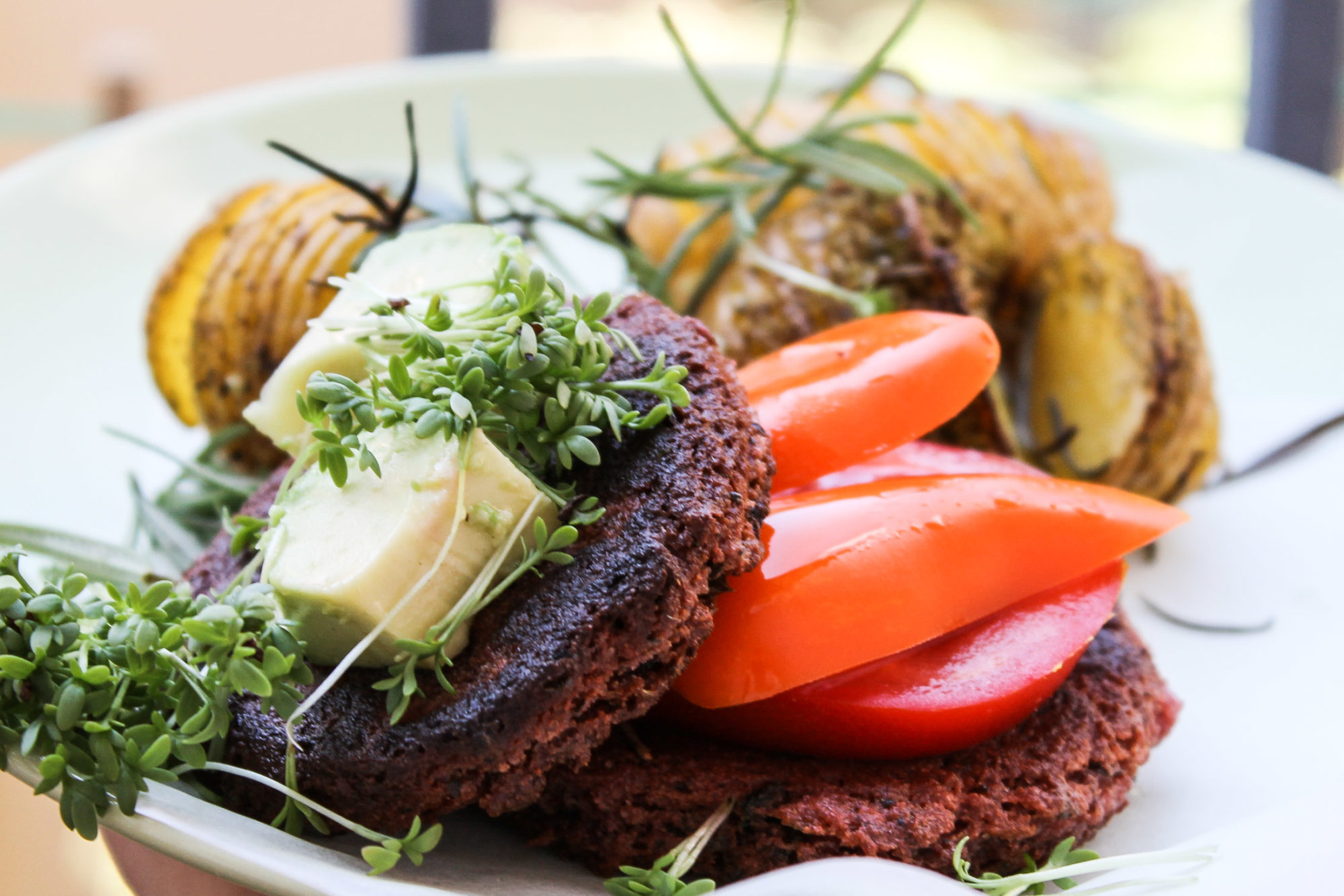gluten free vegan burger patties tofu beetroot -5