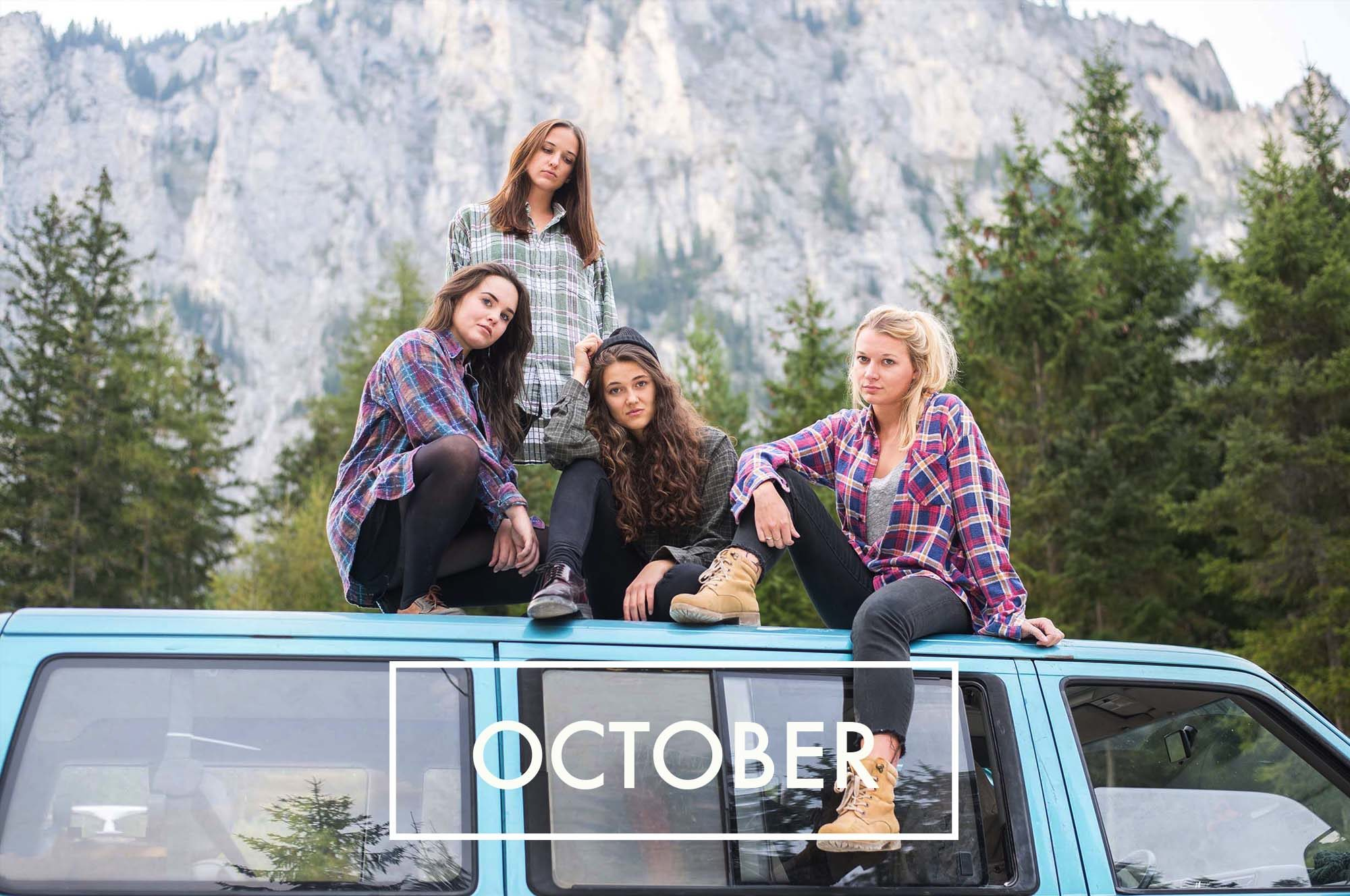 Girl Gang Band VW Bus cool Holzfällerhemd Jahresrückblick 2016 Dogdays of Summer Vintage onlineshop graz Österreich Retro