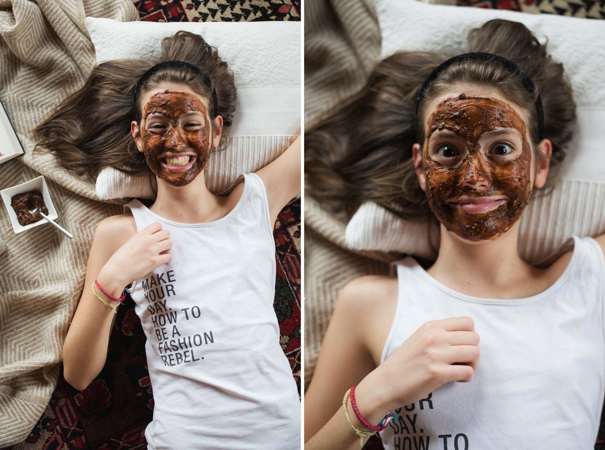 Vegan chocolate face mask cacao cocoa banana avocado girls night sleep over fun styria austria graz Dogdays of Summer Vintage Blog Onlineshop