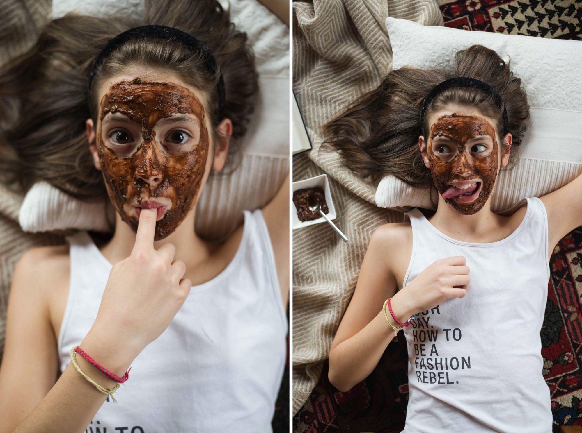 Vegane Schokoladen Gesichtsmaske Schoko Avokado Banane Mädelsabend Dogdays of Summer Vintage Onlineshop Graz Österreich Blog Steiermark