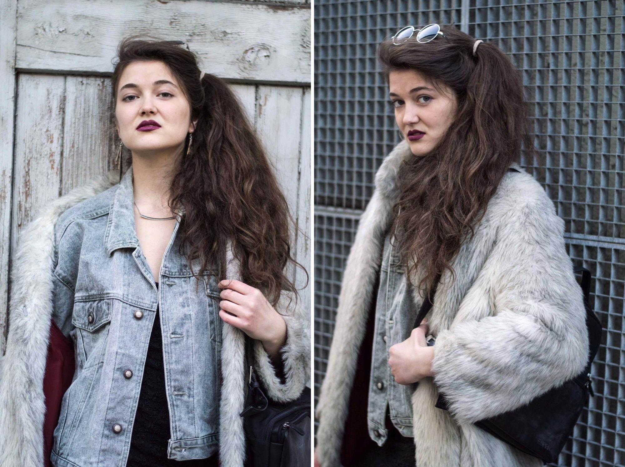 Faux Fur Pelz Fake Pelzmantel Gegenargumente Vintage Second Hand Grunge Outfit Soft Grunge Graz Österreich Europa