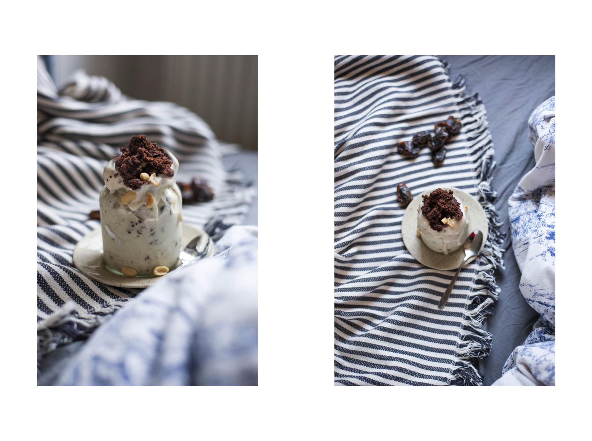 Brownies and Cream Nicecream | Vegan, gluten-frei, zucker-frei Bananen Kokoscreme Erdnuss