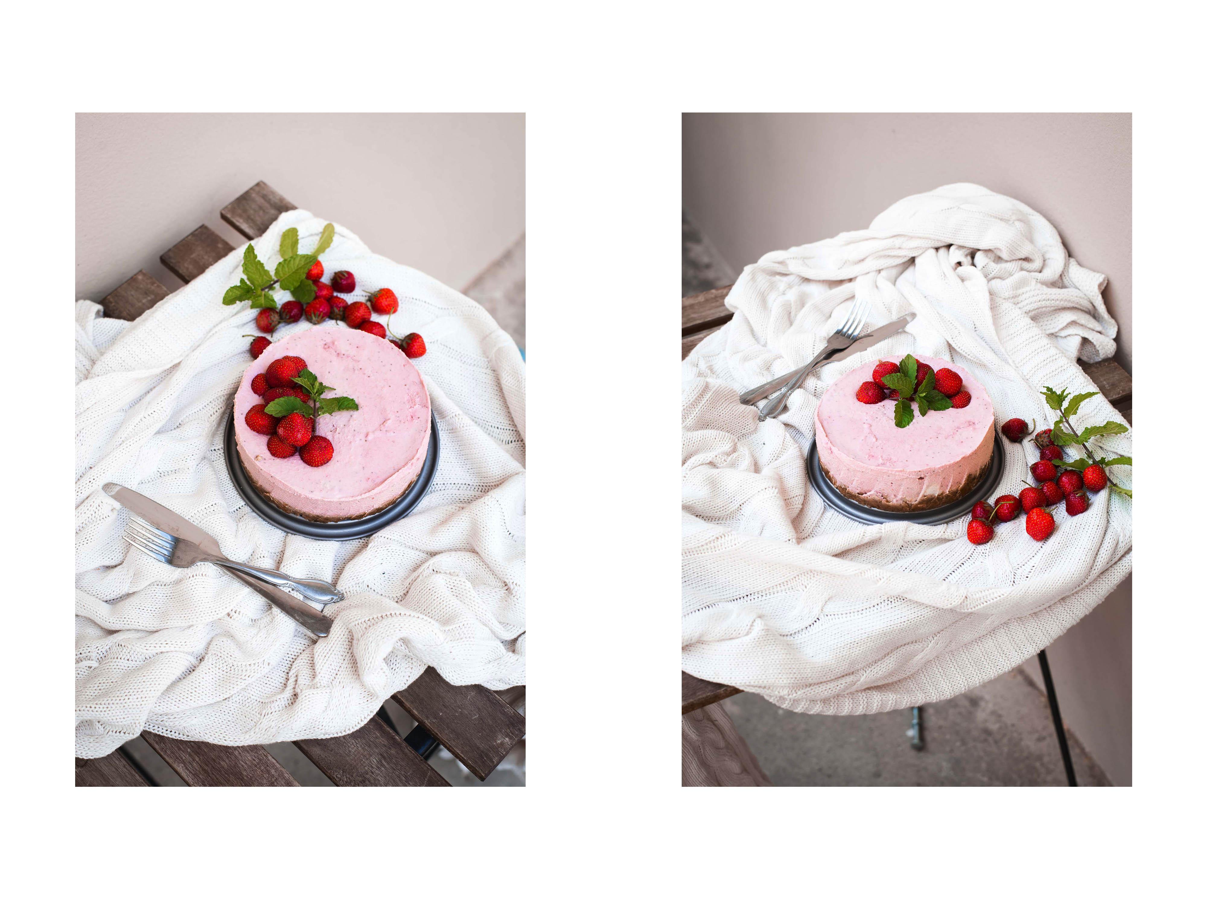 raw vegan strawberry cheesecake cashews father's day present walnuts sugar-free gluten-free