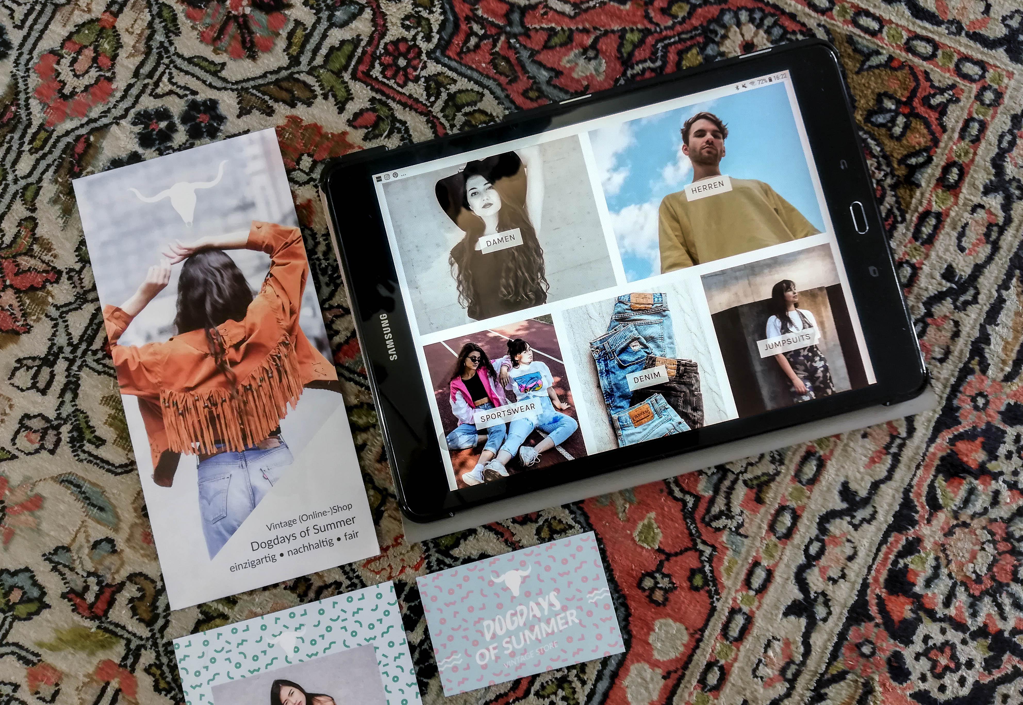 Dogdays of Summer Vintage-Onlineshop Graz Österreich Retro Mode Fashion Responsive Design Tablet Damen Herren Sportkleidung Denim Jumpsuits