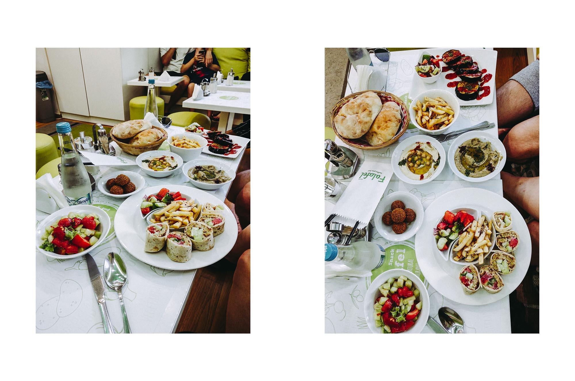 Vegan essen in Sarajevo: Falafel Restauran. Roadtrip durch Bosnien Montenegro Kroatien. Am Balkan vegan essen, reisen, fahren, packen. Dogdays of Summer vegan vintage Blog