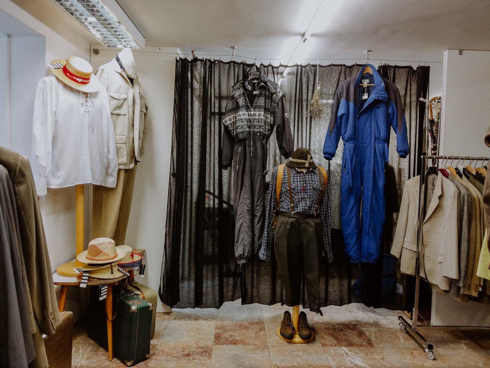 Vintage Clothing for Men in Divas Vintage Store Ljubljana