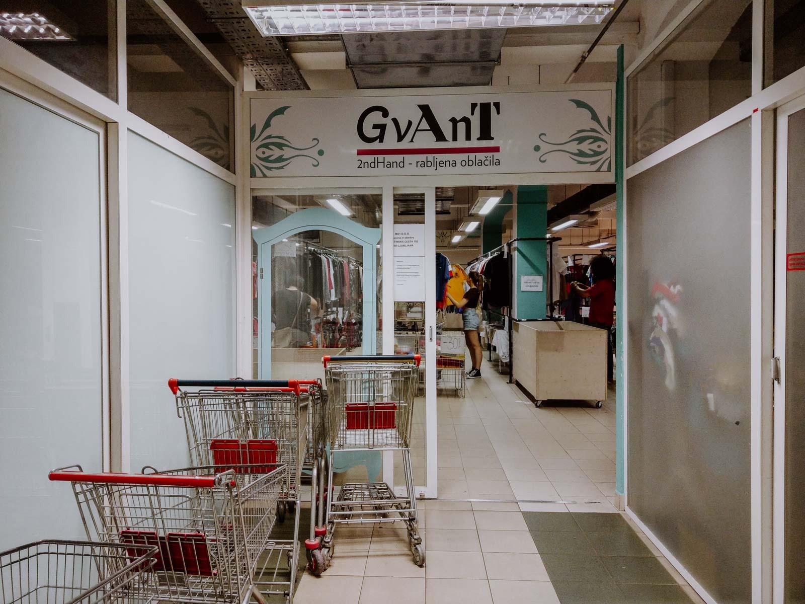 Vintage and Second Hand store Gvant in Ljubljana Insider Travel Tip