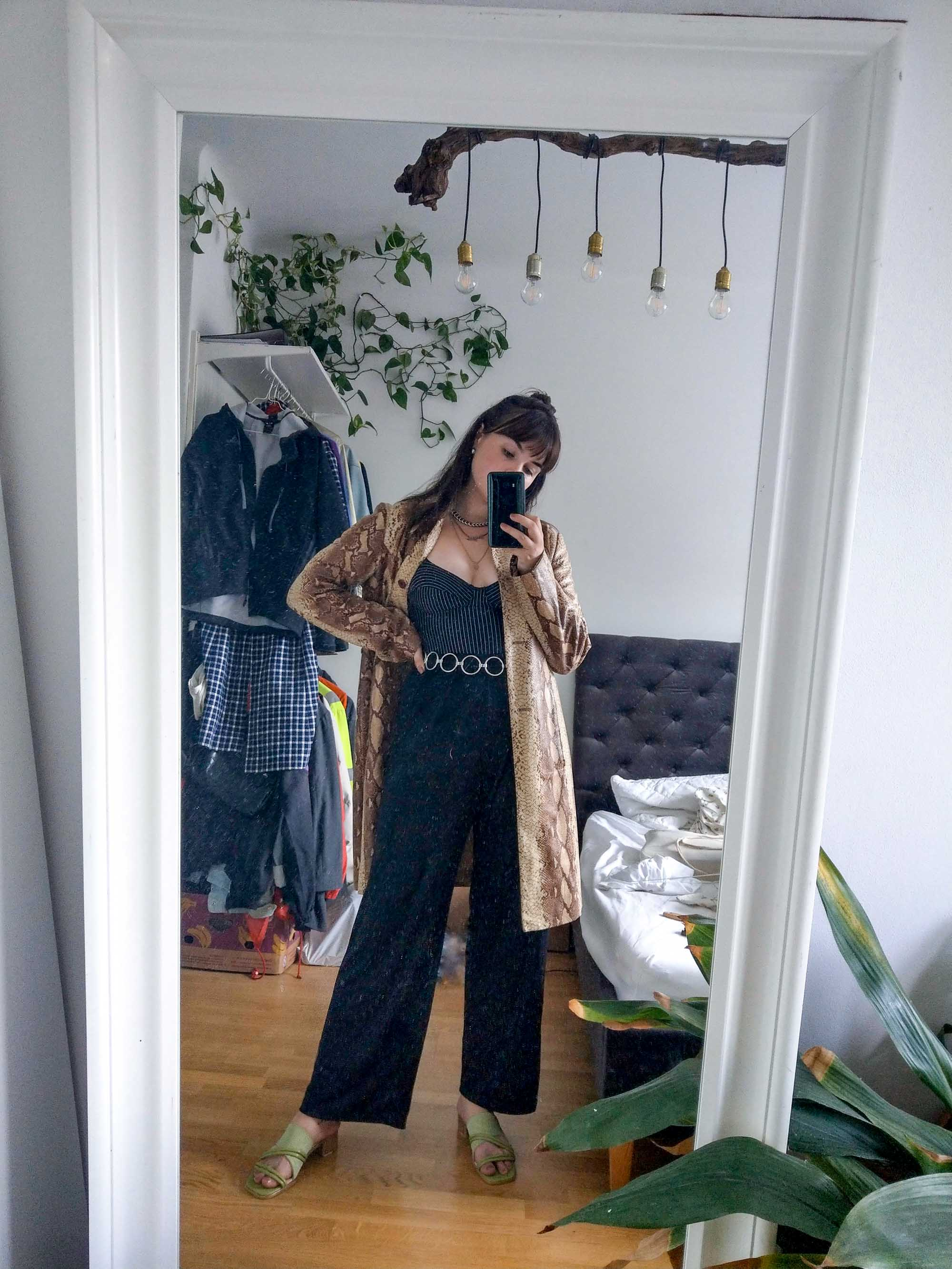 Clarissas Office Looks im Juli – Vintage Outfit Inspiration mit Animal Print