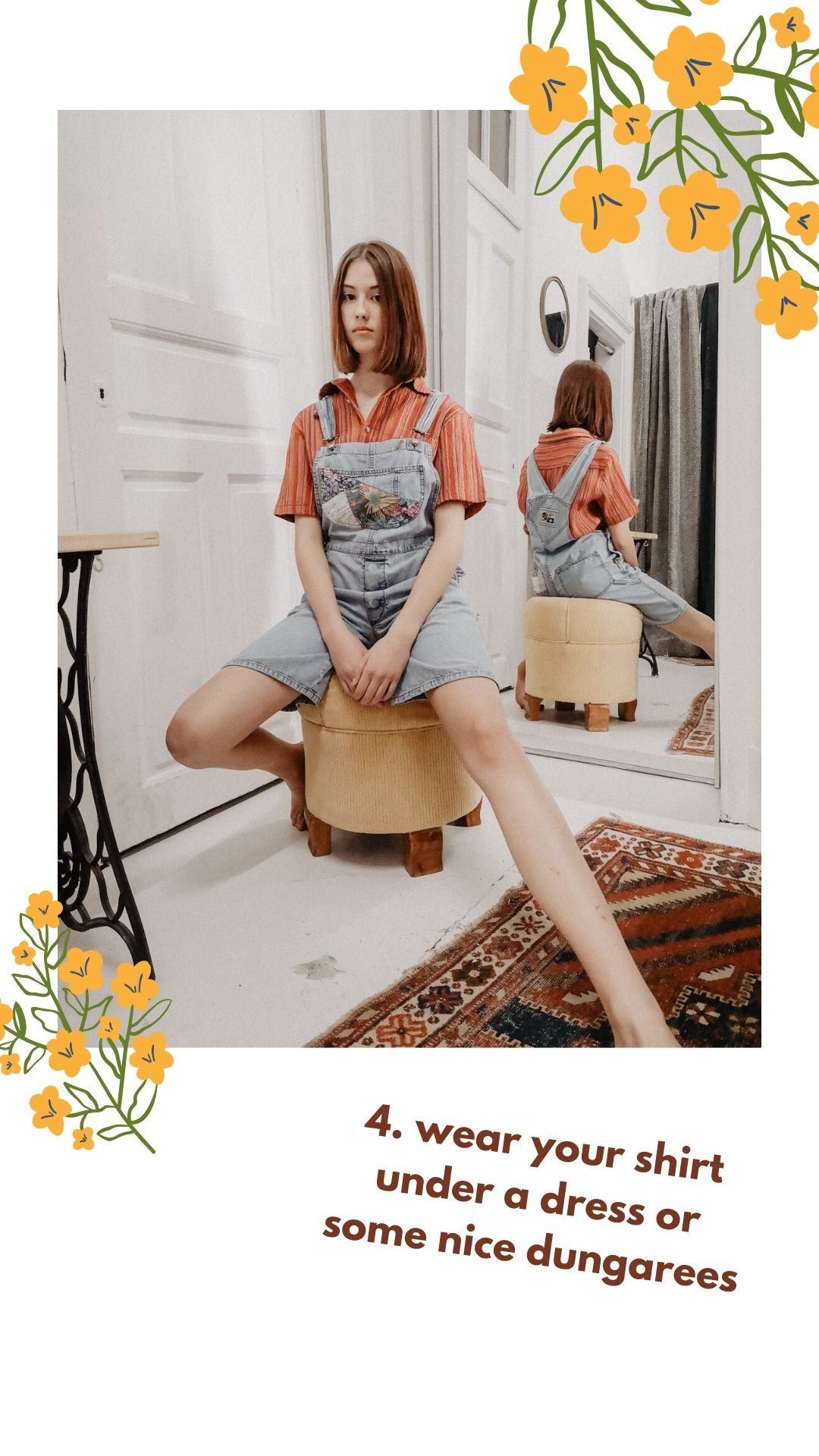 Vintage-Hemd Inspiration: Latzhose und Hemd