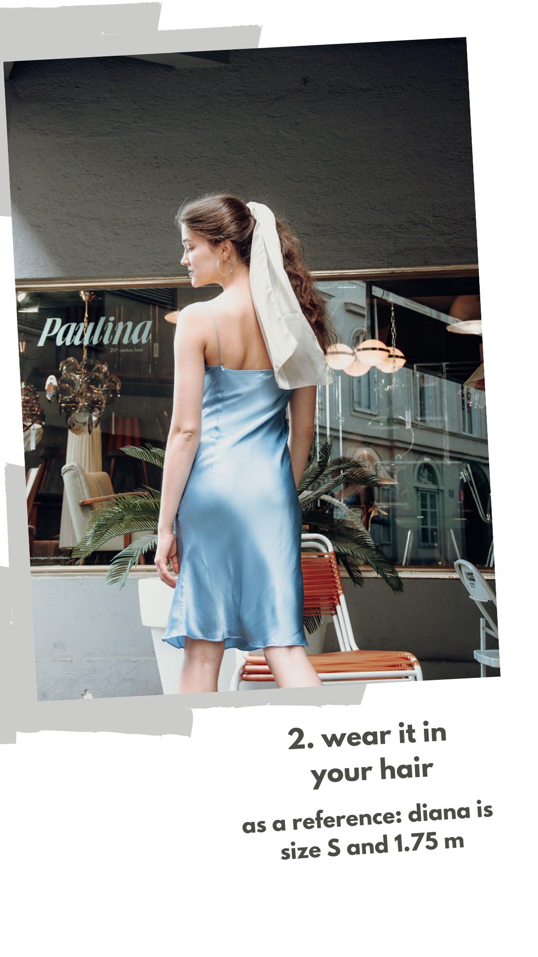 9 Varianten, wie du dein Vintage Seidentuch stylen kannst: 2. Als Accessoire für dein Haar
