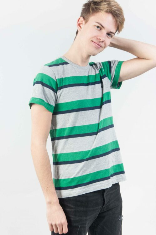 Grey Green Stripes