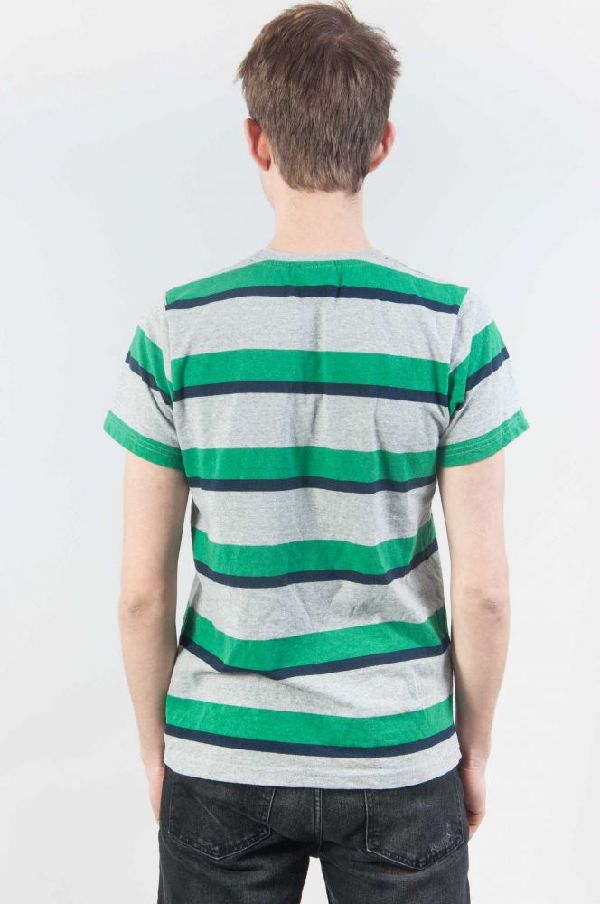 Grey Green Stripes 3