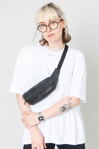 Cute And Small Lederbauchtasche