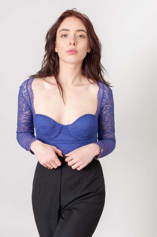 Pretty Purple Langarmbody