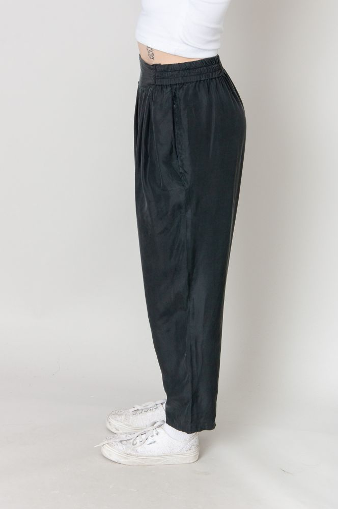 Soft Silk Bundfaltenhose High Waist 5