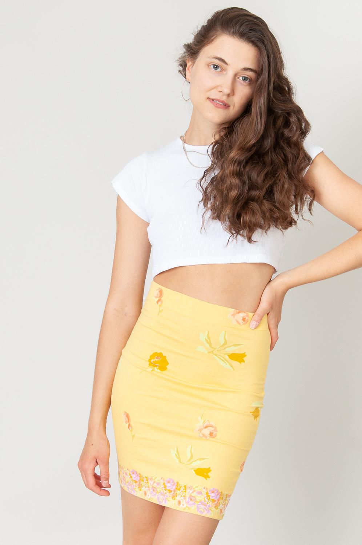 Yellow Flowers Bleistiftrock