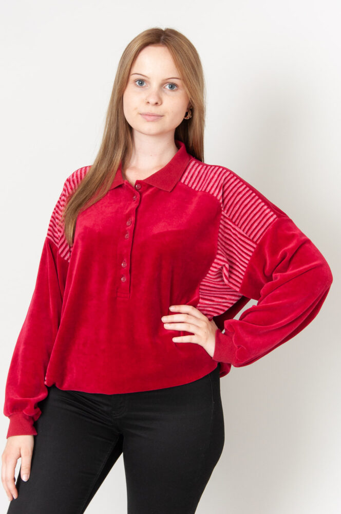 Buttons And Stripes Sweatshirt