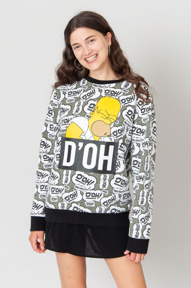 D'Oh Homer Simpsons Sweatshirt 3