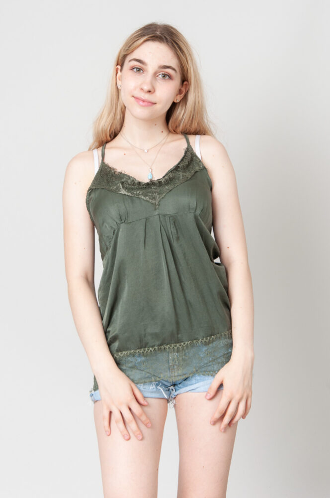 Green Lace Camitop