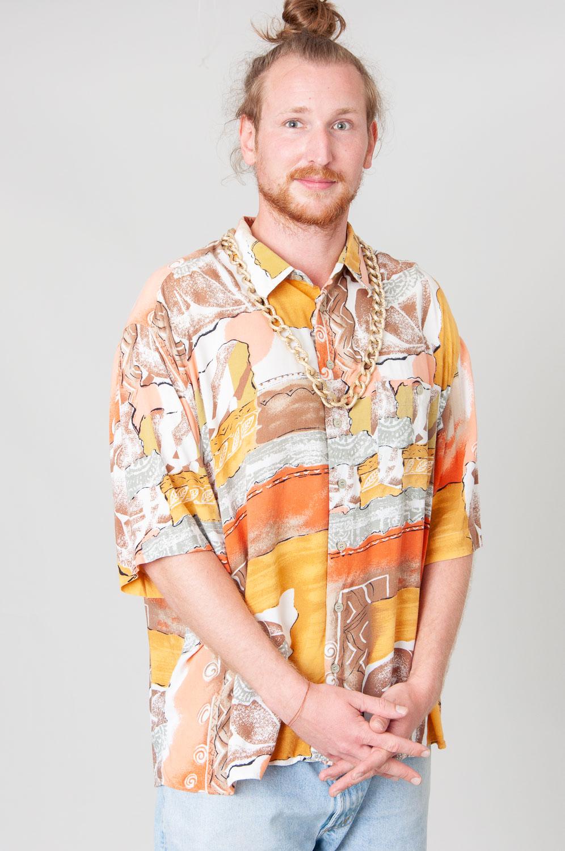 Orange Sun Kurzarmhemd