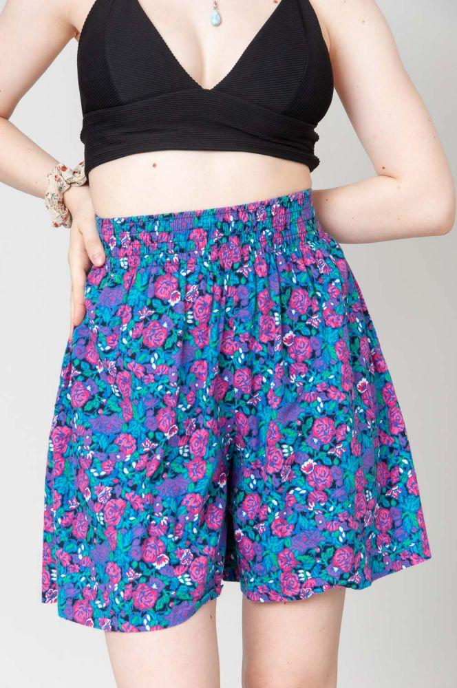 Pink Roses Shorts 2