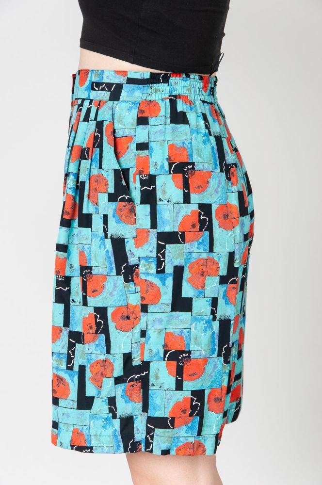 Red Poppies Shorts High Waist 5