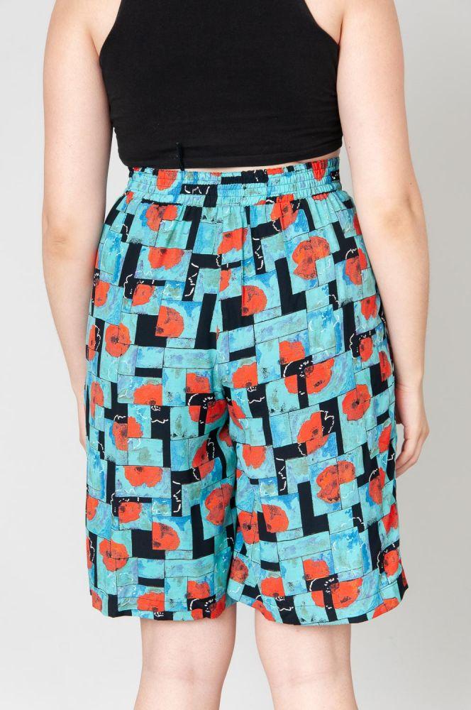 Red Poppies Shorts High Waist 4
