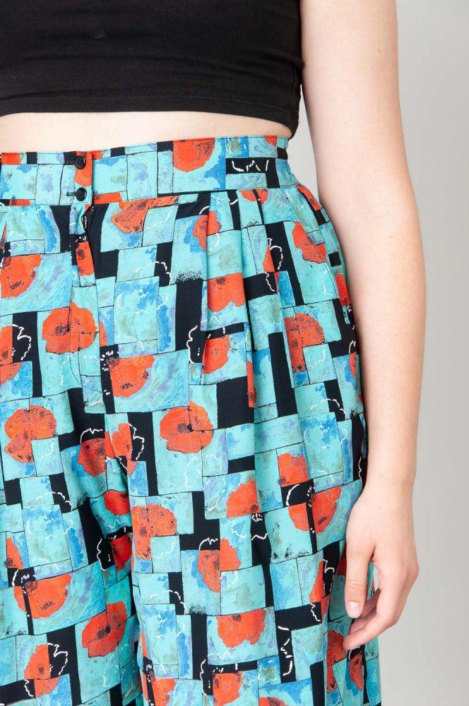Red Poppies Shorts High Waist 3