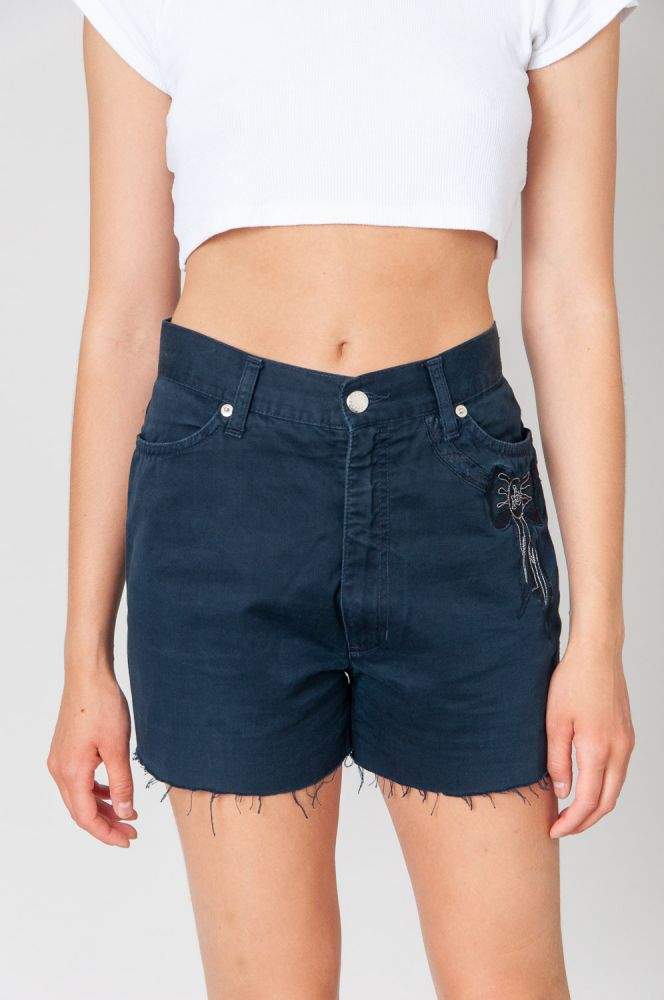 Rocco Barocco With Bow Jeansshorts Mid Waist 2