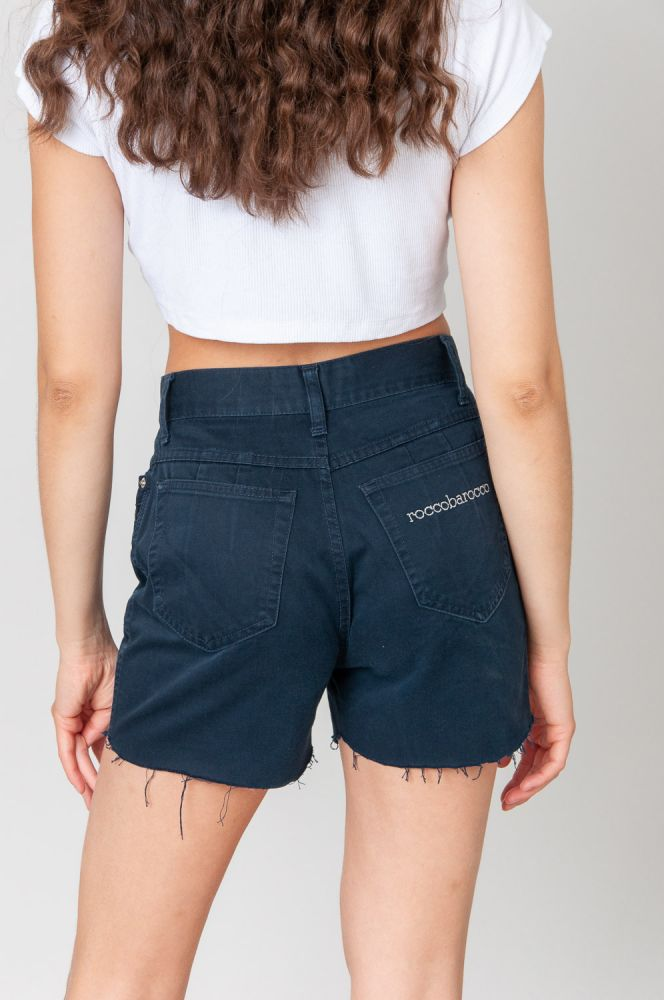 Rocco Barocco With Bow Jeansshorts Mid Waist 4