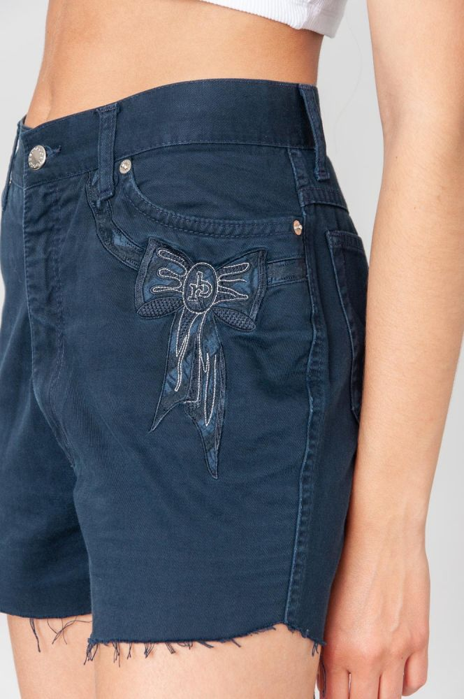 Rocco Barocco With Bow Jeansshorts Mid Waist 5