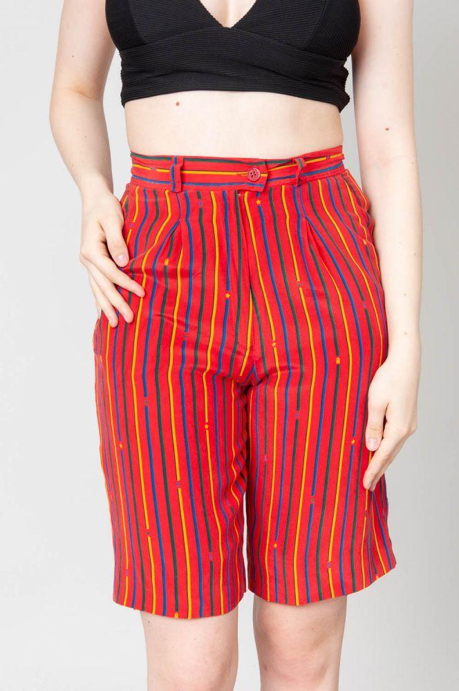 Stripes In Summer Shorts High Waist 2