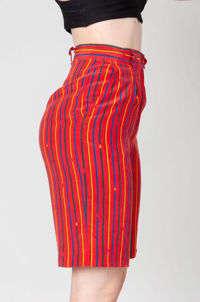 Stripes In Summer Shorts High Waist 3