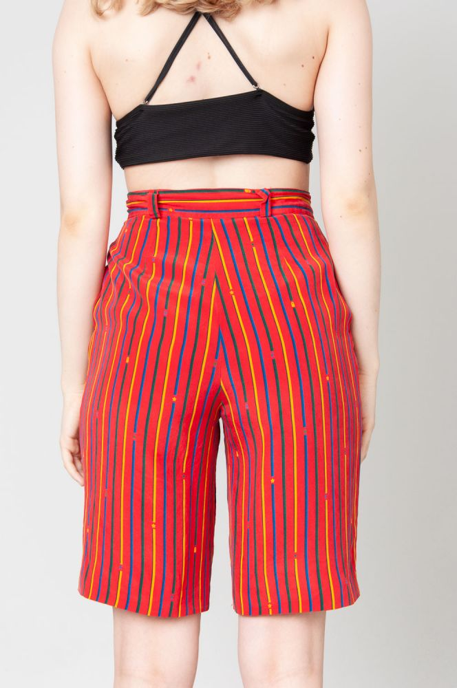 Stripes In Summer Shorts High Waist 4