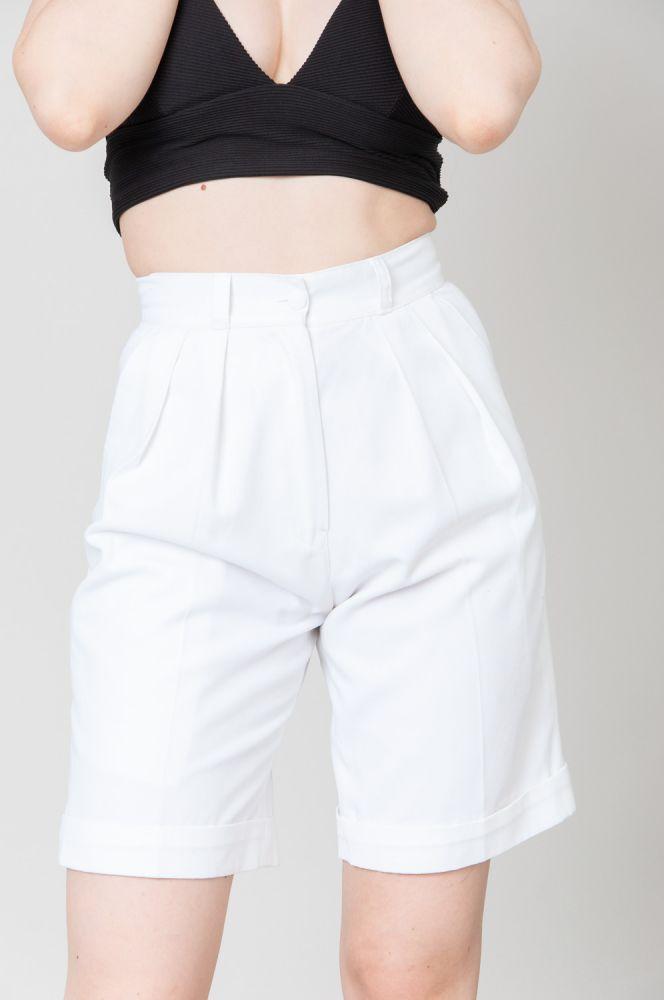 White Summer Snow Shorts High Waist 2