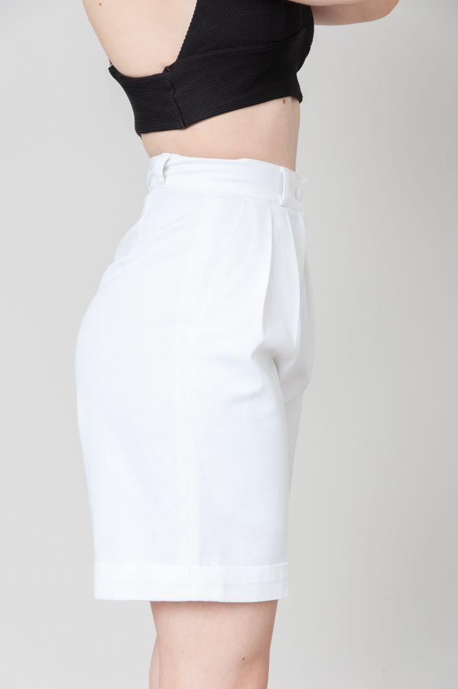 White Summer Snow Shorts High Waist 3