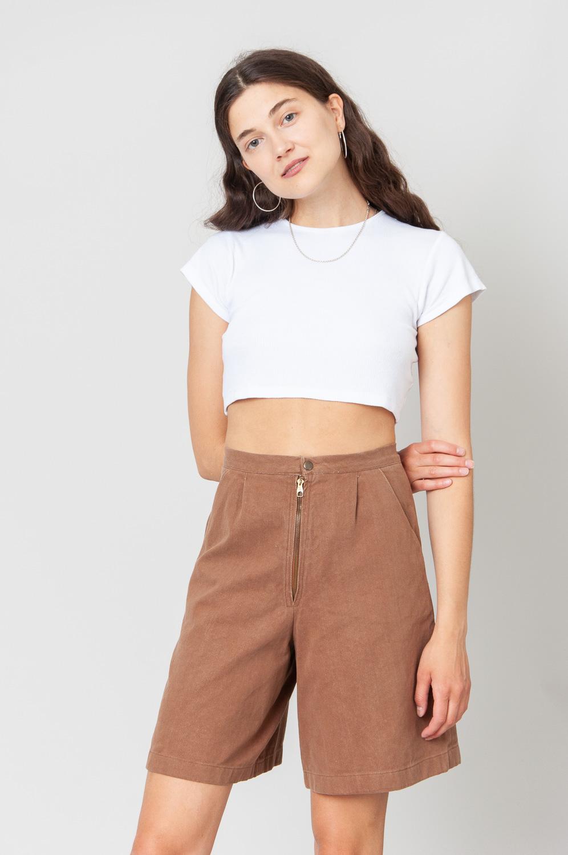 Zip It Shorts High Waist