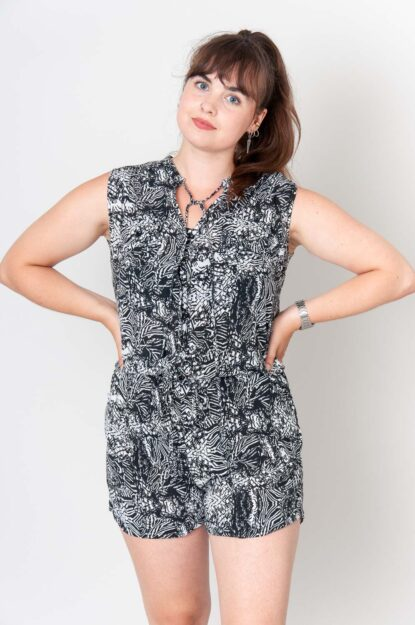 Black And White Chaos Jumpsuit