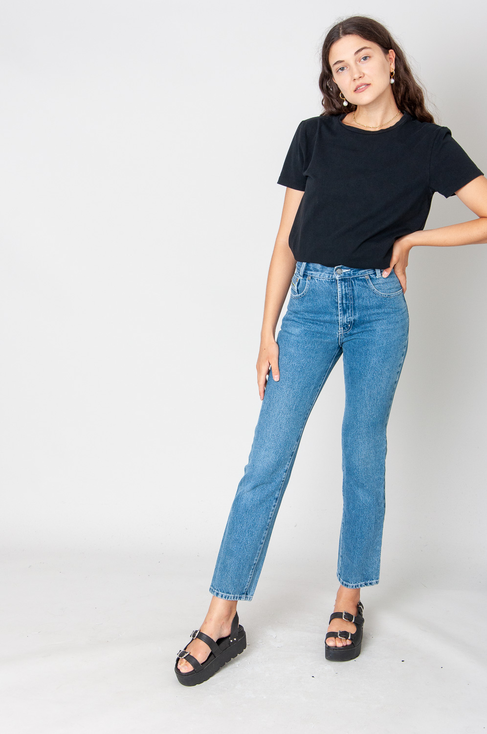 Million X Special Style Mom Jeans High Waist