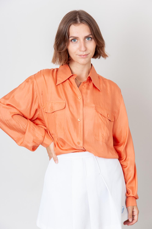 Orange Vibes Langarmbluse